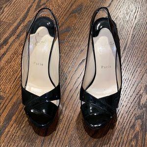 Christian Louboutin sling back heel